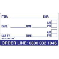 Removrite Item Labels 49mm x 87mm Item Labels 1 Roll Per Box Containing 500 Labels