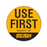 Washrite Use First 32 Diam Orange Label